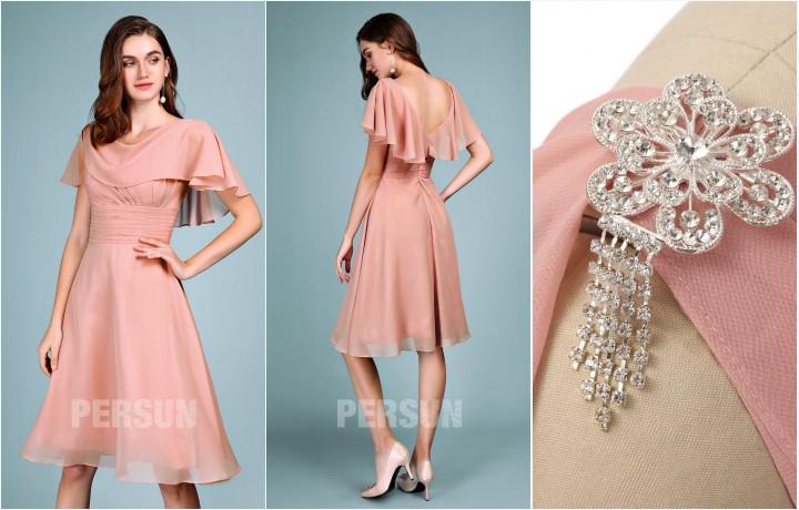 robe de soirée rose courte 2019 pas cher