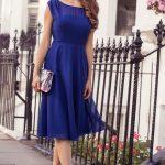 robe de soirée bleu cobalt courte chic