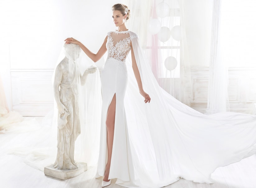 robe de mariée à traîne Watteau
