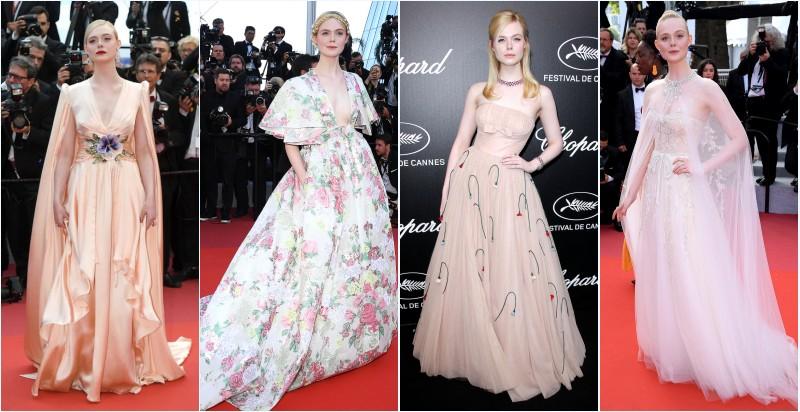 Robes de soirée féerique que Elle Fanning portaient au Cannes 2019
