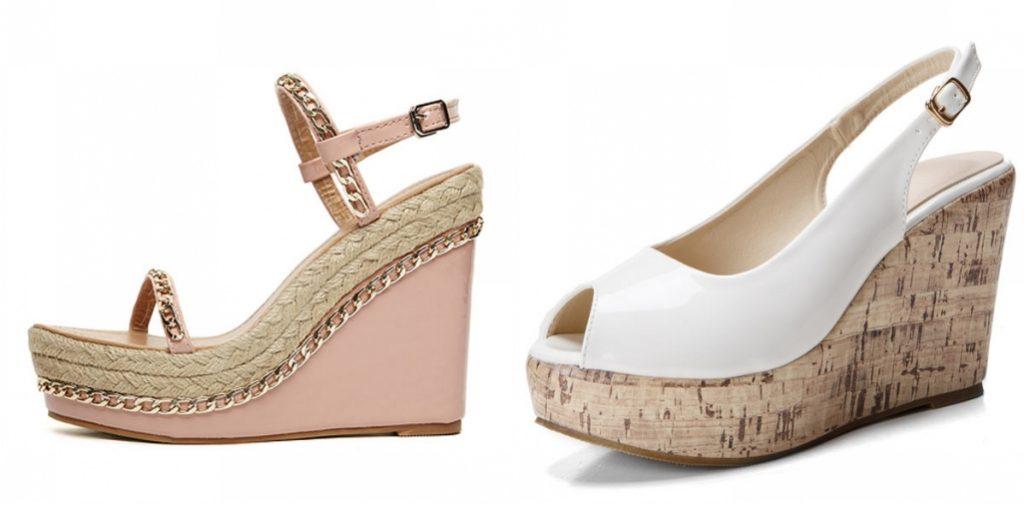chaussures compensées fashion pour l'été 2019