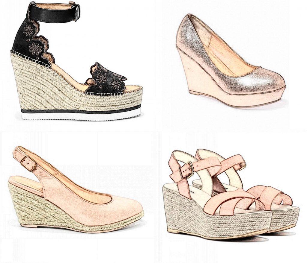 4 styles différente des chaussures cimpensées