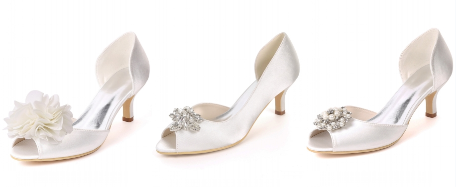 chaussure de mariage blanches talon fconfortable