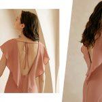 robe de soirée dos decoupé rose carnation