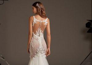 robe de mariée sexy sirène en dentelle appliquée