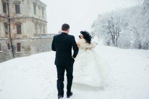 mariage en hiver romantique