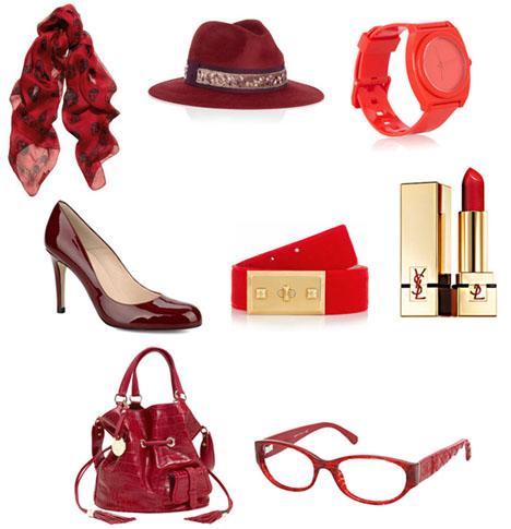 accessoire rouge pour femme