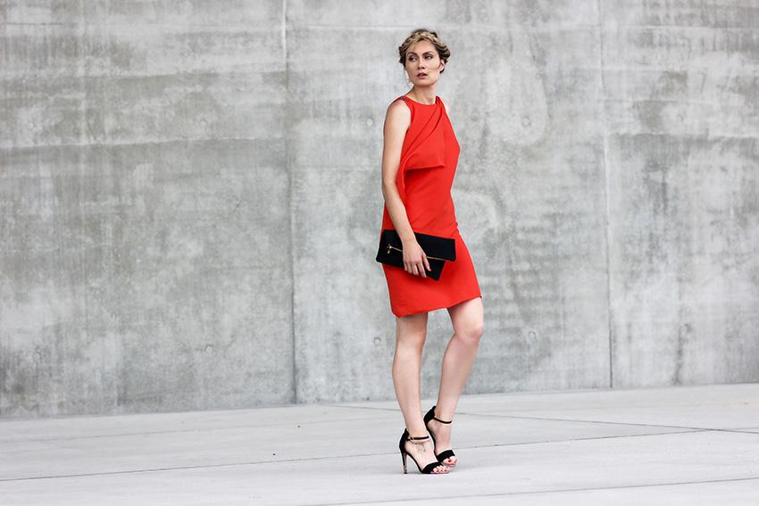 robe de cocktail courte rouge