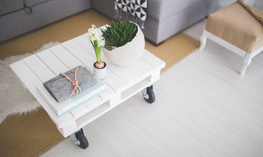 Comment aménager le salon avec une table basse en palette?